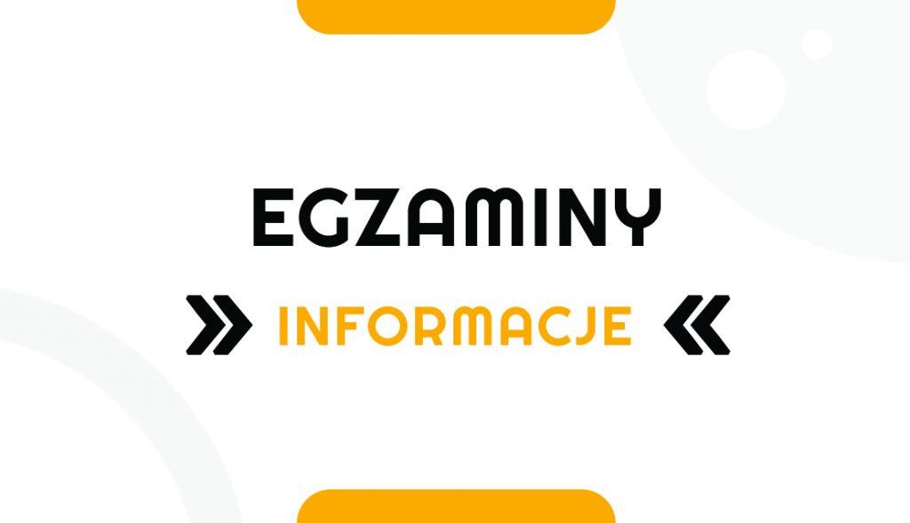 Egzaminy – informacje