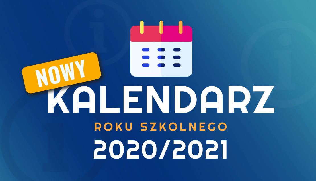 Grafika ilustrująca kalendarz roku szkolnego