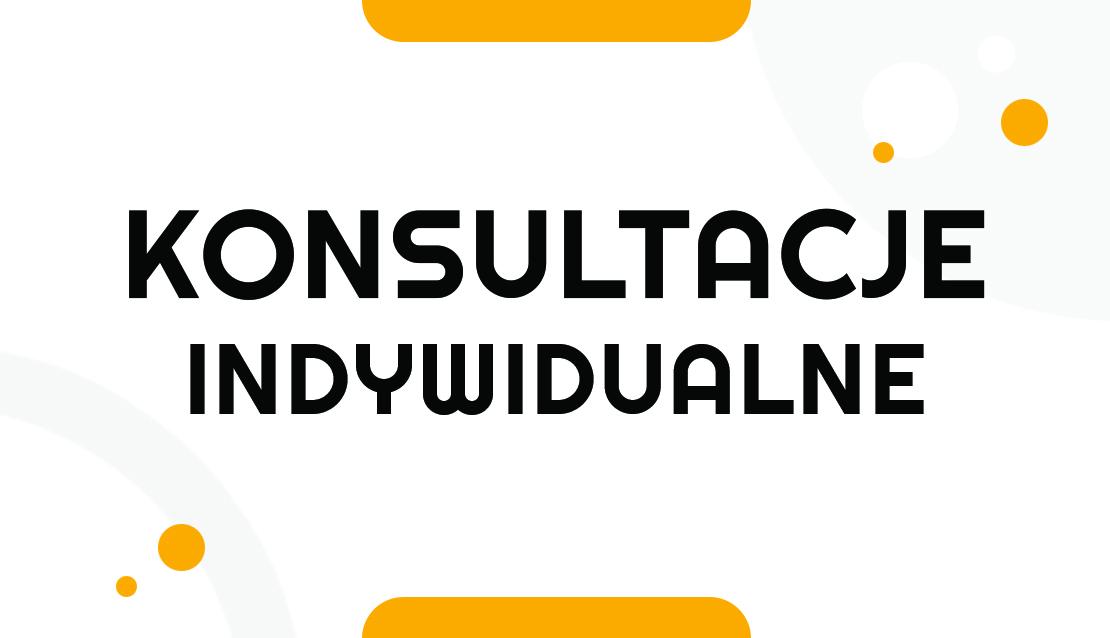 Grafika ilustrująca konsultacje indywidualne