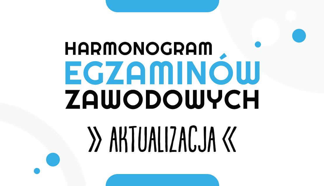 Harmonogram egzaminów – zmiany